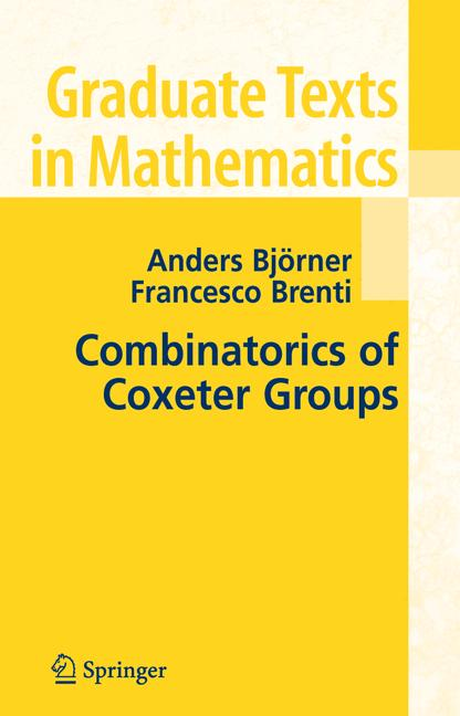 Cover of 'Combinatorics of Coxeter Groups'