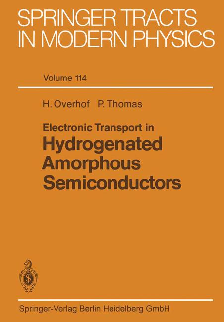 Cover of 'Electronic Transport in Hydrogenated Amorphous Semiconductors'