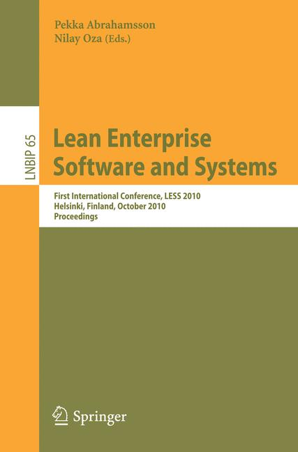 Cover of 'Lean Enterprise Software and Systems'