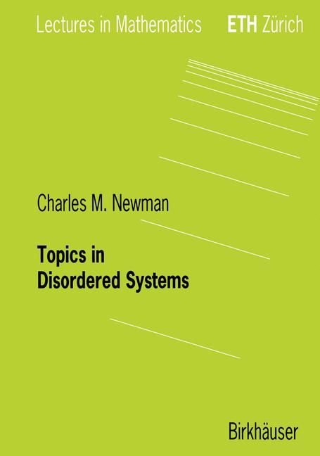 Cover of 'Topics in disordered systems'