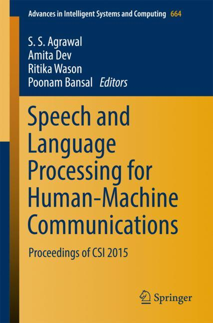 Cover of 'Speech and Language Processing for Human-Machine Communications'