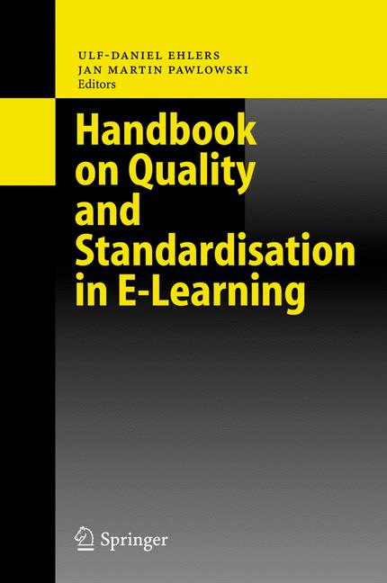 Cover of 'Handbook on Quality and Standardisation in E-Learning'