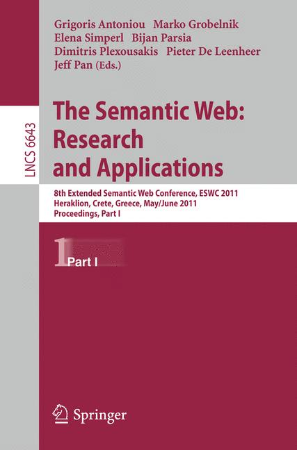 Cover of 'The Semantic Web: Research and Applications'