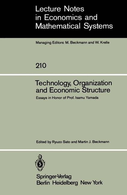 Cover of 'Technology, Organization and Economic Structure'