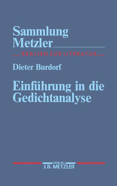 Cover of 'Einführung in die Gedichtanalyse'
