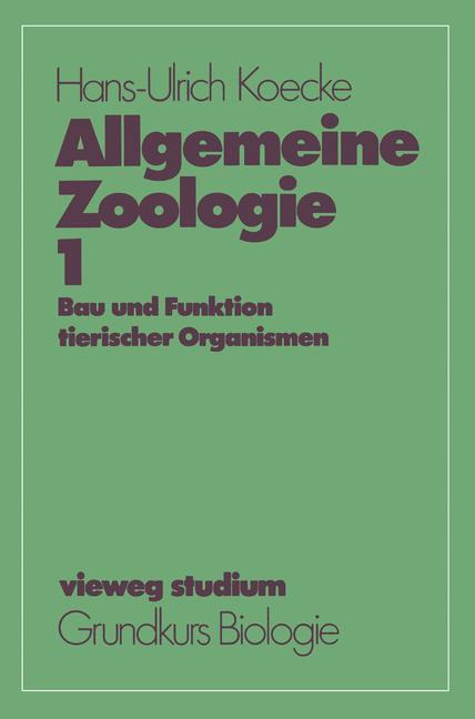 Cover of 'Allgemeine Zoologie'
