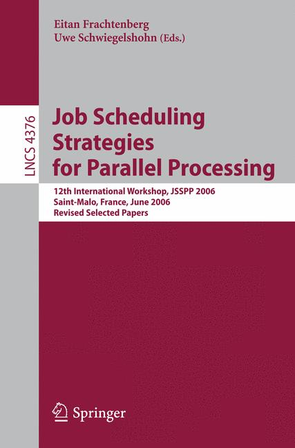 Cover of 'Job Scheduling Strategies for Parallel Processing'