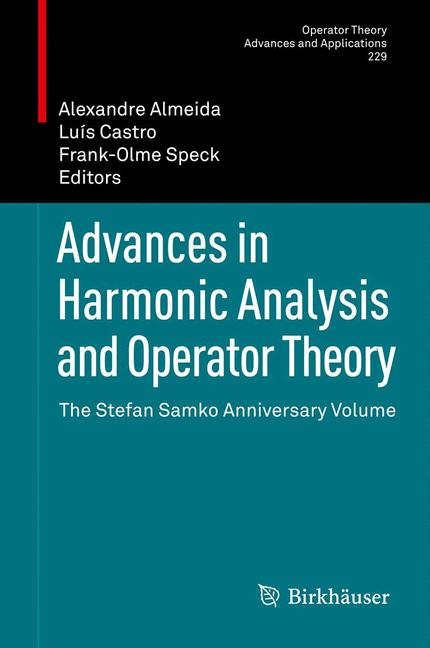 Cover of 'Advances in Harmonic Analysis and Operator Theory'
