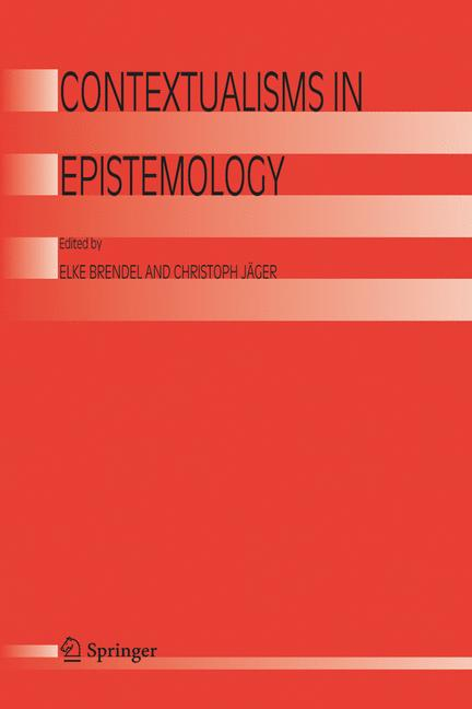 Cover of 'Contextualisms in Epistemology'