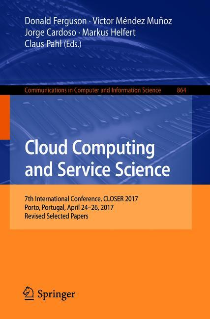 Cover of 'Cloud Computing and Service Science'