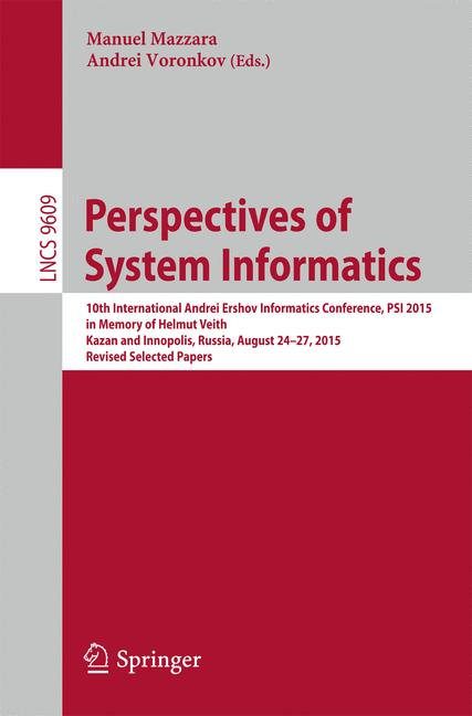 Cover of 'Perspectives of System Informatics'