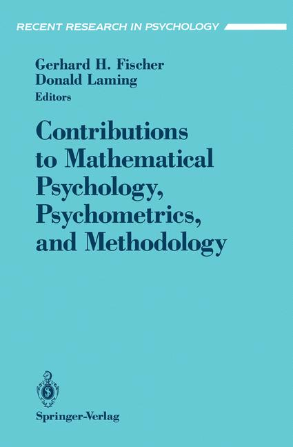 Cover of 'Contributions to Mathematical Psychology, Psychometrics, and Methodology'