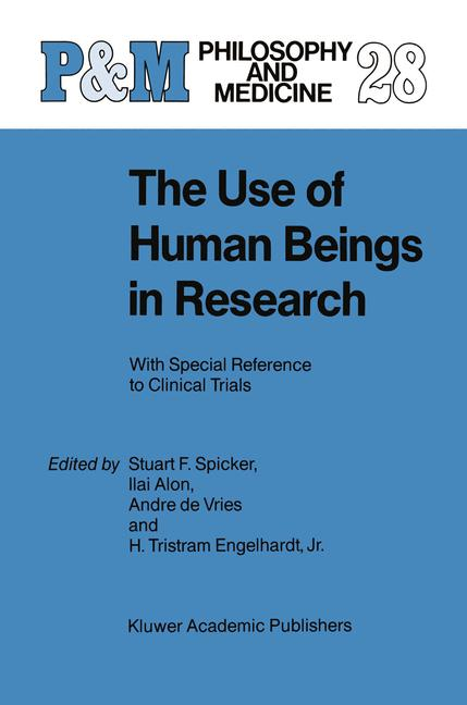 Cover of 'The Use of Human Beings in Research'