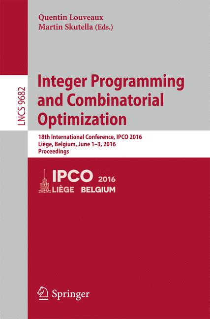 Cover of 'Integer Programming and Combinatorial Optimization'