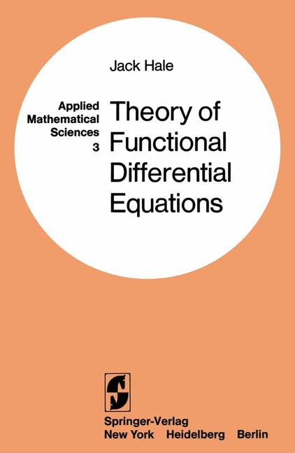 Cover of 'Theory of Functional Differential Equations'