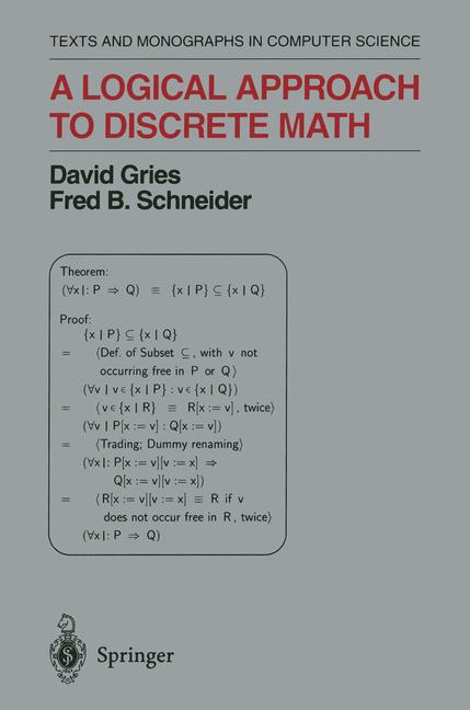 Cover of 'A logical approach to discrete math'