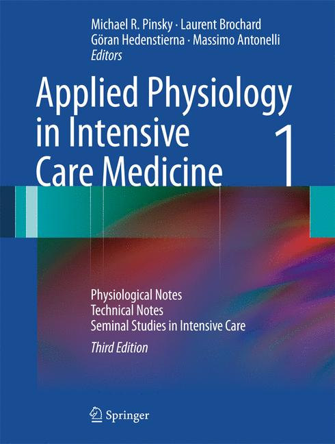Cover of 'Applied Physiology in Intensive Care Medicine 1'