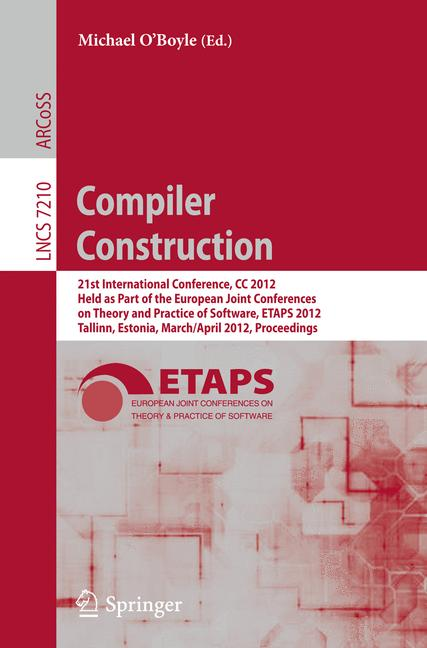 Cover of 'Compiler Construction'