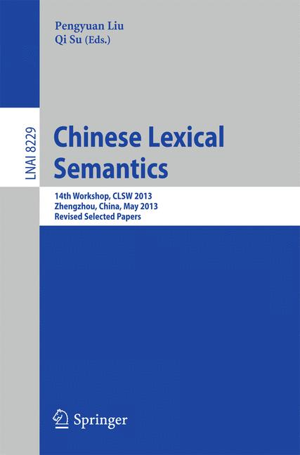 Cover of 'Chinese Lexical Semantics'