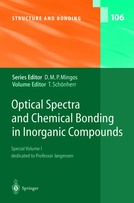 Cover of 'Optical Spectra and Chemical Bonding in Inorganic Compounds'