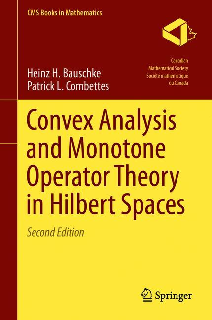 Cover of 'Convex Analysis and Monotone Operator Theory in Hilbert Spaces'