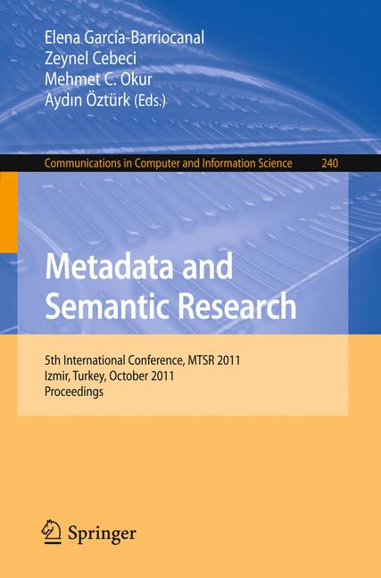 Cover of 'Metadata and Semantic Research'