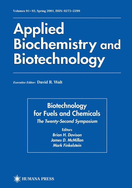 Cover of 'Twenty-Second Symposium on Biotechnology for Fuels and Chemicals'