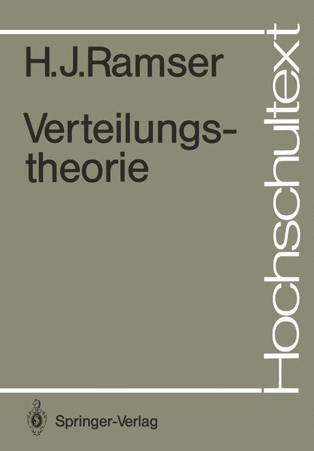 Cover of 'Verteilungstheorie'