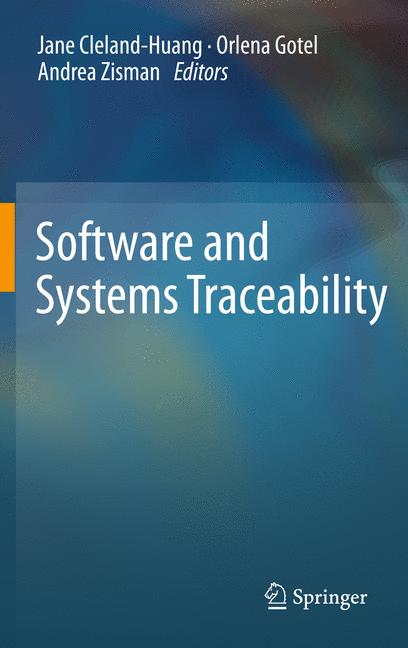 Cover of 'Software and Systems Traceability'