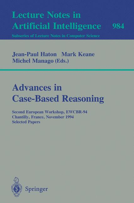 Cover of 'Advances in Case-Based Reasoning'