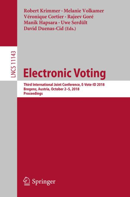 Cover of 'Electronic Voting'