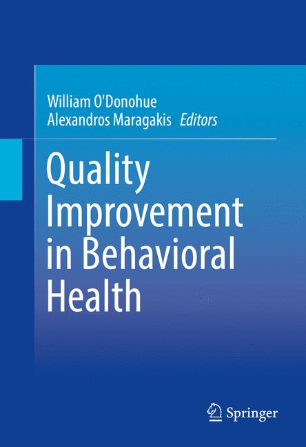 Cover of 'Quality Improvement in Behavioral Health'