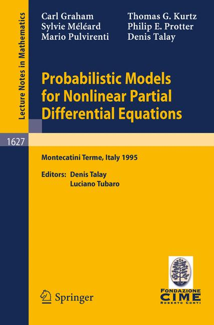 Cover of 'Probabilistic Models for Nonlinear Partial Differential Equations'