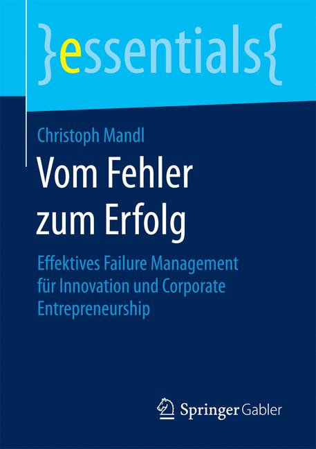 Cover of 'Vom Fehler zum Erfolg'