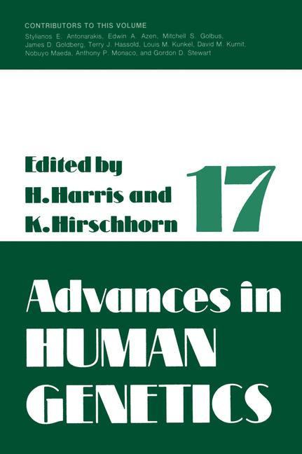 Cover of 'Advances in Human Genetics 1'