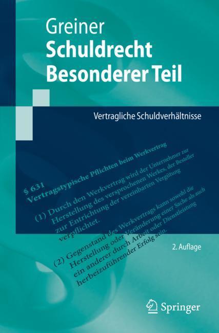 Cover of 'Schuldrecht Besonderer Teil'
