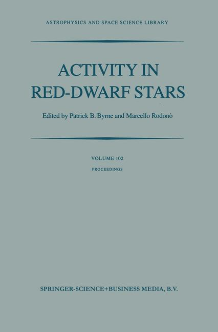Cover of 'Activity in Red-Dwarf Stars'