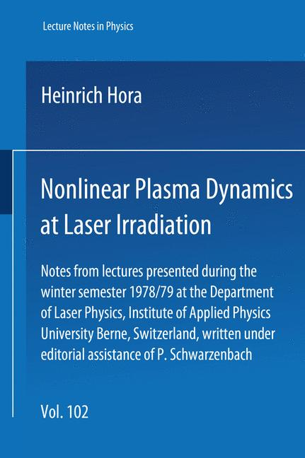 Cover of 'Nonlinear Plasma Dynamics at Laser Irradiation'