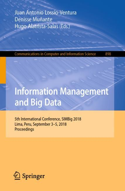 Cover of 'Information Management and Big Data'