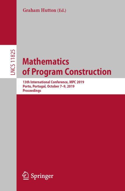 Cover of 'Mathematics of Program Construction'