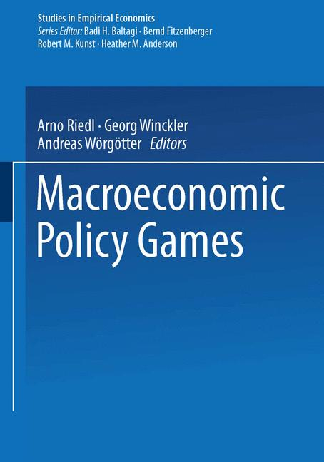 Cover of 'Macroeconomic Policy Games'