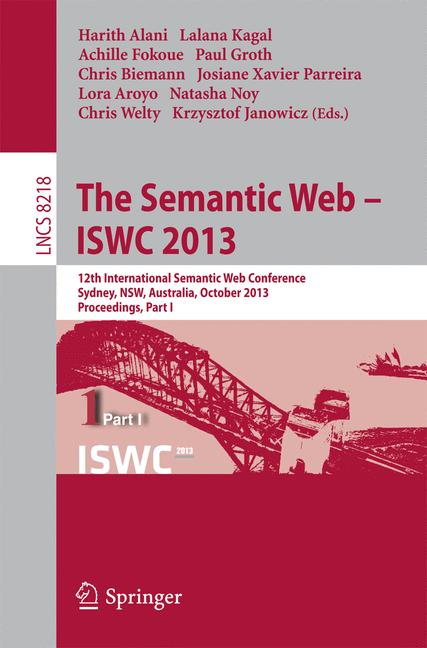 Cover of 'The Semantic Web - ISWC 2013'