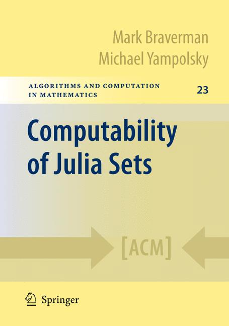 Cover of 'Computability of Julia Sets'