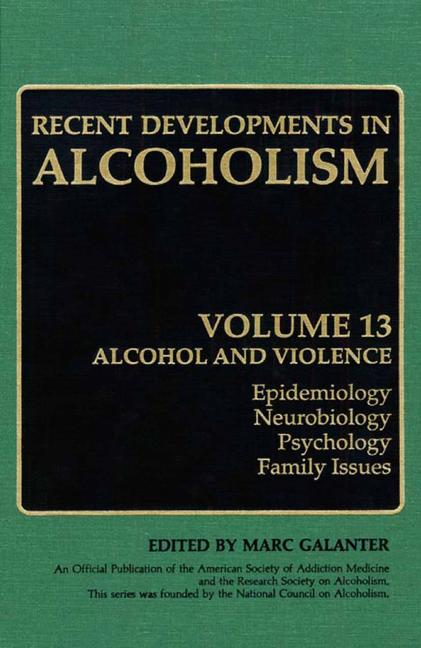 Cover of 'Recent Developments in Alcoholism'