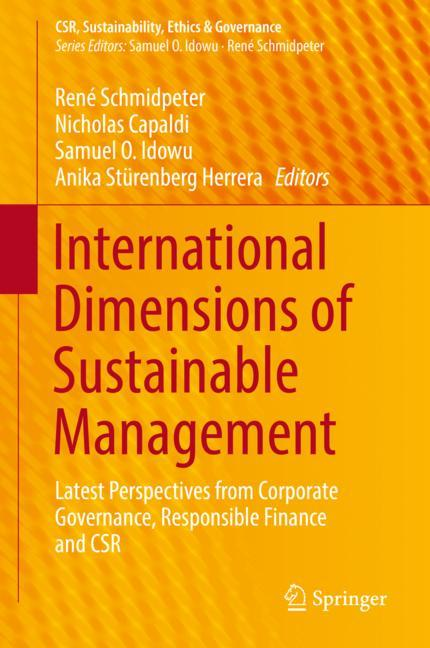 Cover of 'International Dimensions of Sustainable Management'