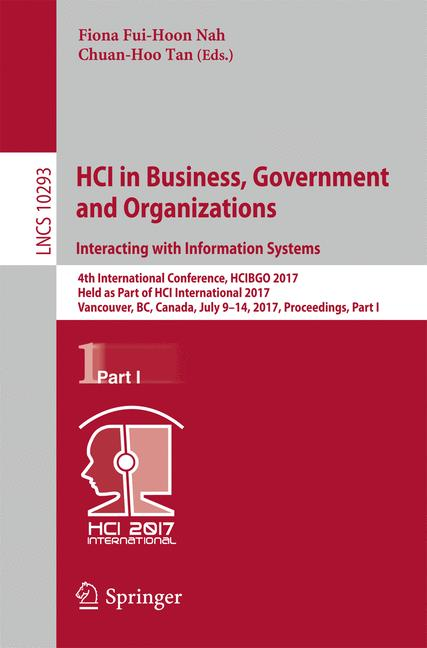 Cover of 'HCI in Business, Government and Organizations. Interacting with Information Systems'