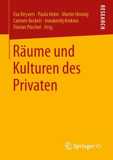 Cover of 'Räume und Kulturen des Privaten'