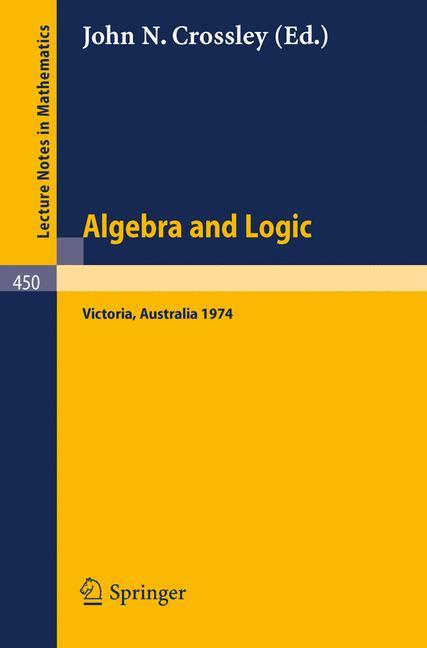 Cover of 'Algebra and Logic'