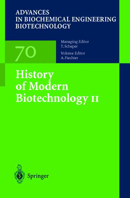 Cover of 'History of Modern Biotechnology II'
