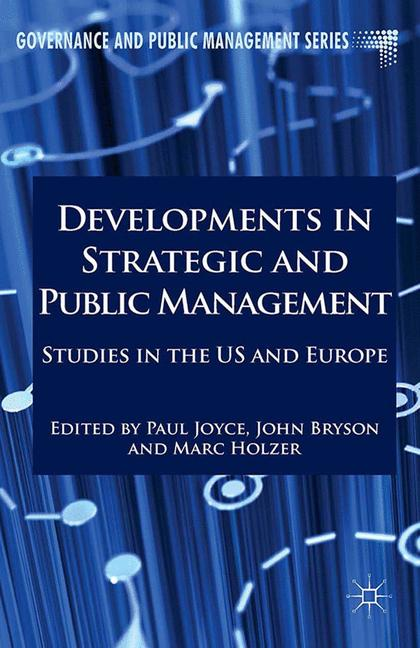 Cover of 'Developments in Strategic and Public Management'